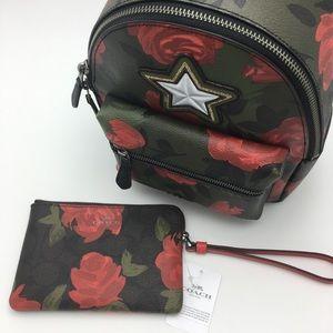 COACH Bundle Mini Charlie Backpack Wristlet Rose